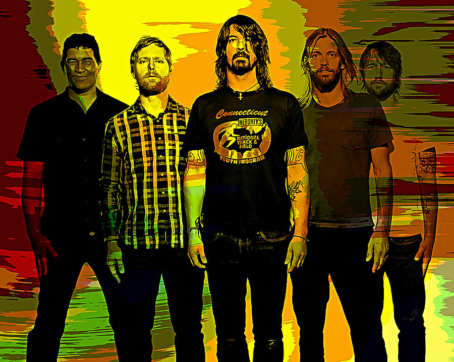 Foo Fighters Mixed Media by Marvin Blaine
