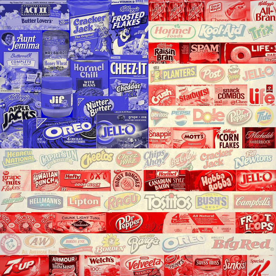 Vector Digital Art - Food Advertising Flag by Gary Grayson