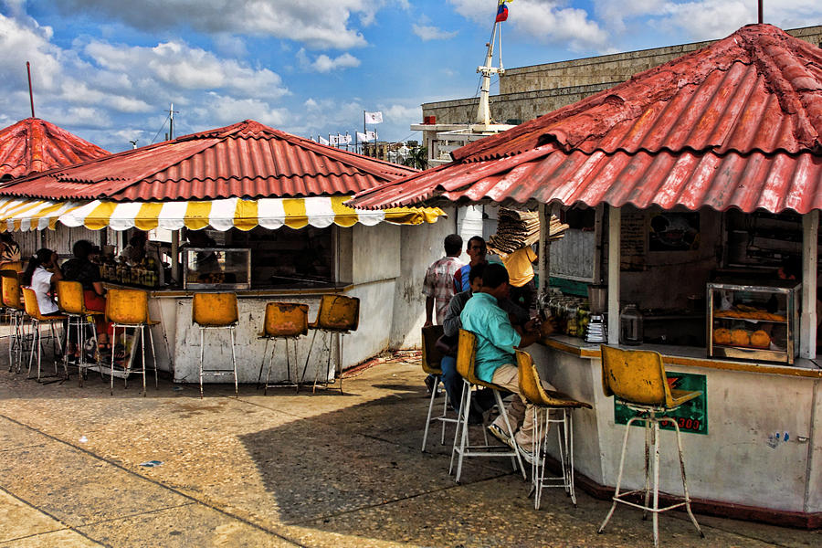 Travel Photograph - Food Counters by Linda Phelps