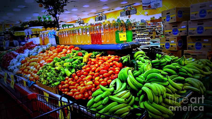 Food Photograph - Food Market by Denisse Del Mar Guevara
