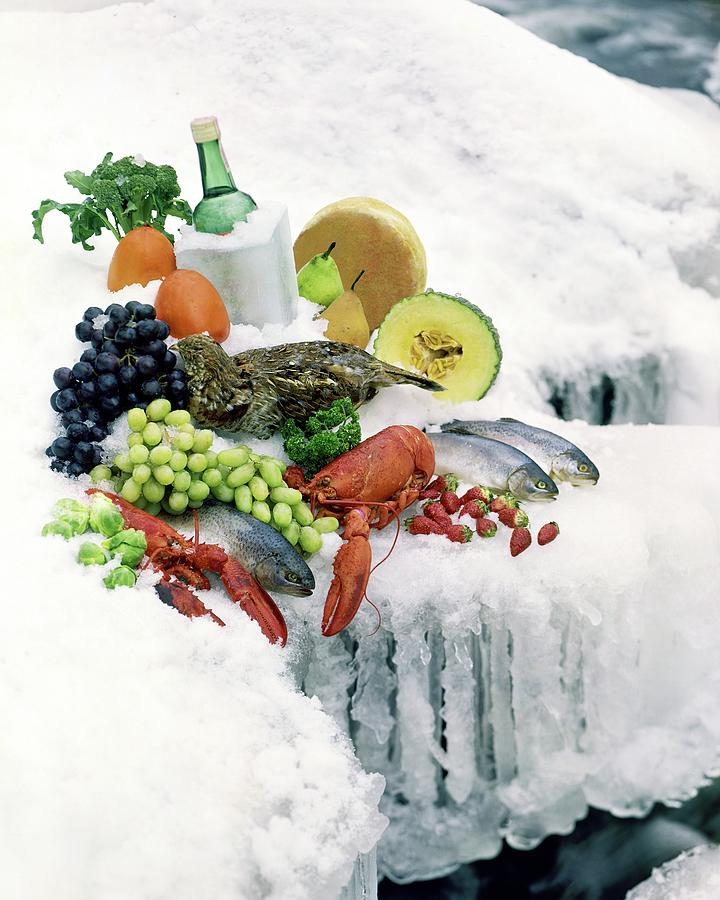 Food On Ice Photograph by Stan Young