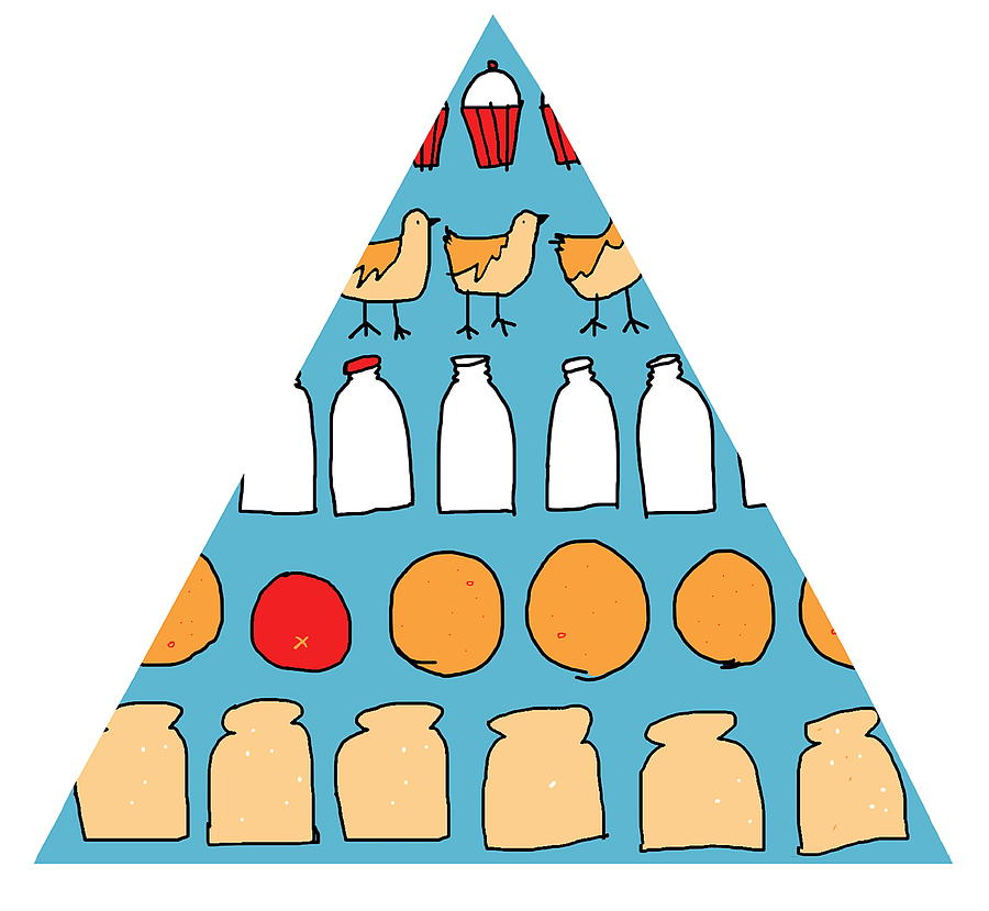 Food Pyramid by Anna Wright/science Photo Library
