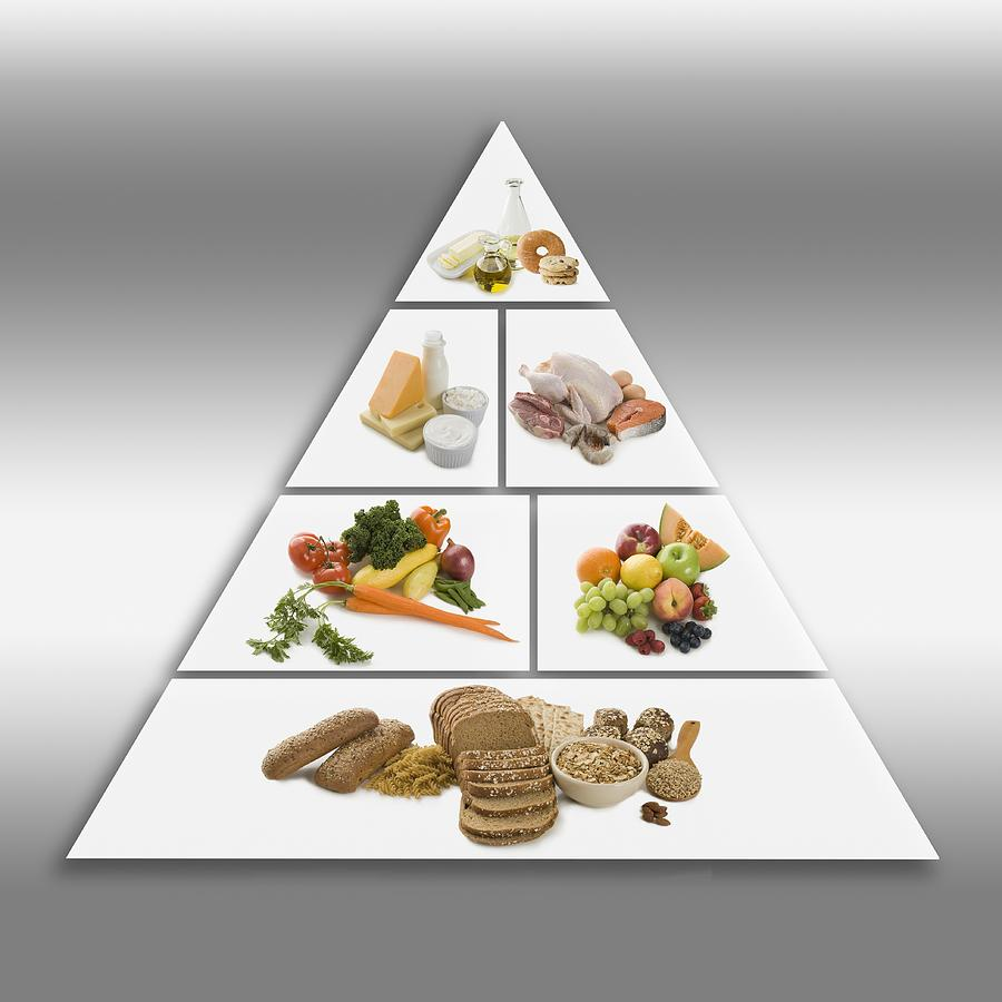 Food pyramid Photograph by Tetra Images