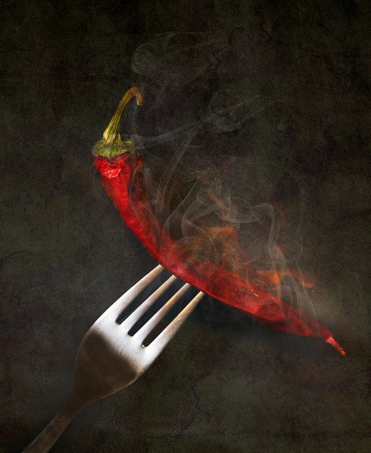Pepper Photograph - Food Spicy Menu Concept  by Svetoslav Sokolov