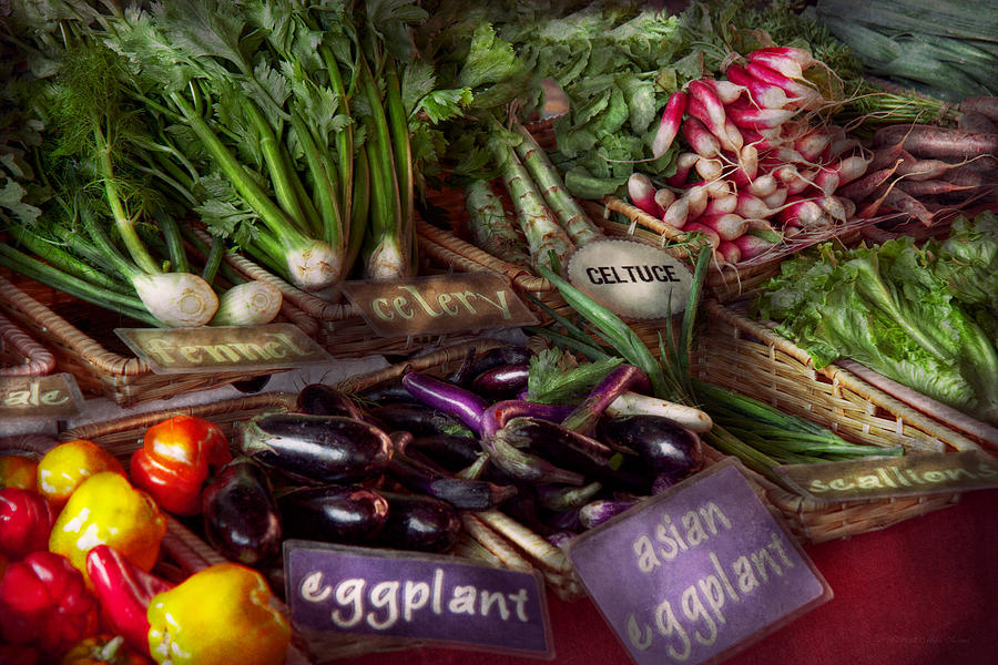 Vegetable Photograph - Food - Vegetables - Very Fresh Produce  by Mike Savad