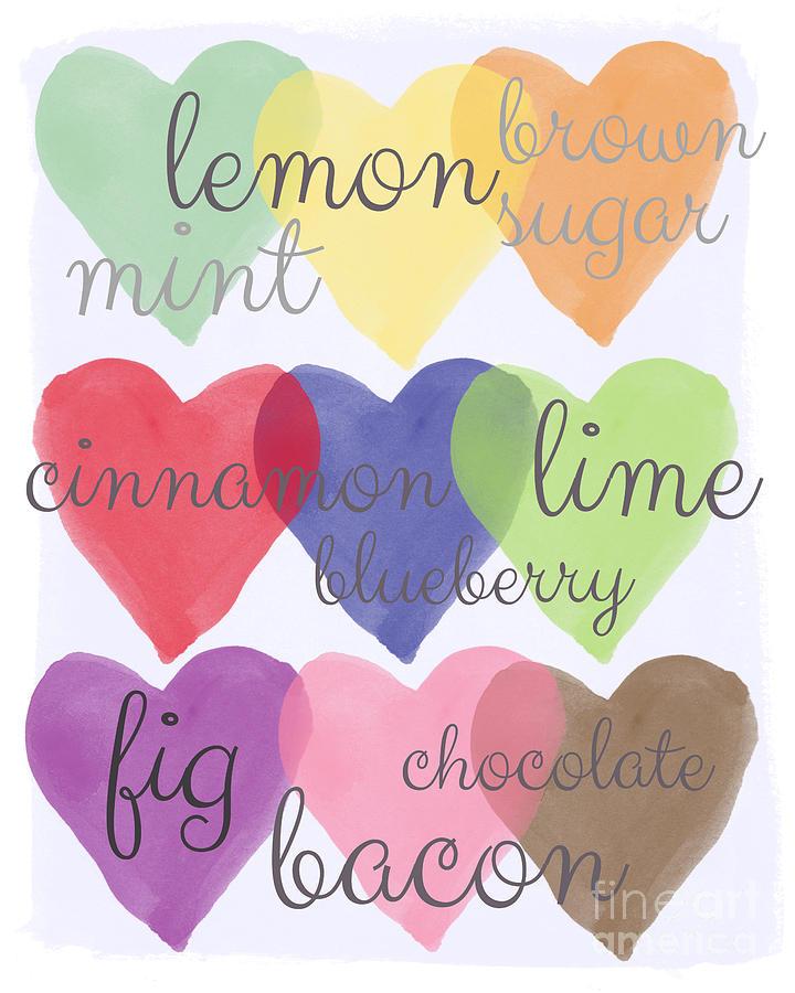 Love Painting - Foodie Love by Linda Woods