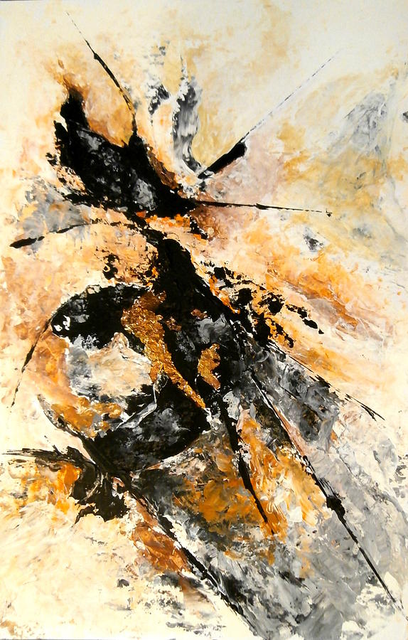 Abstract Painting - Fools Gold by Buck Buchheister