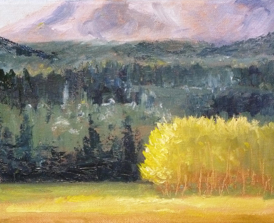 Oregon Painting - Foot Of The Mountain by Nancy Merkle