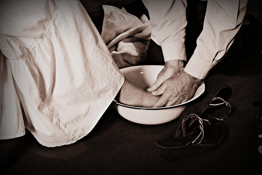 Servant Photograph - Foot Washing by Stephanie Grooms