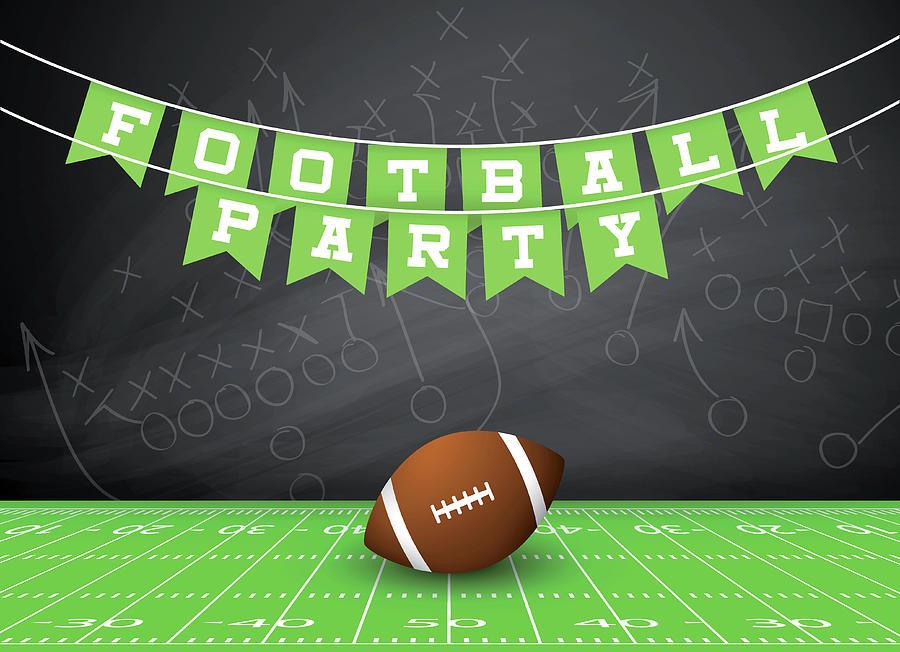 Football Party Invitation Digital Art by Traffic analyzer