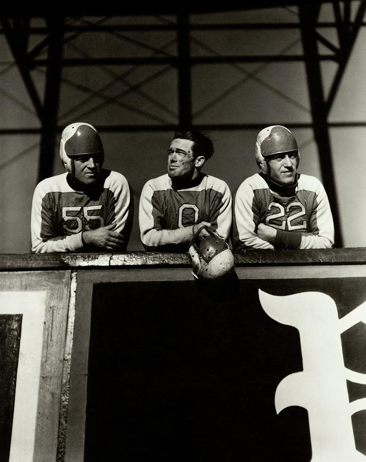 Football Players Photograph by Lusha Nelson