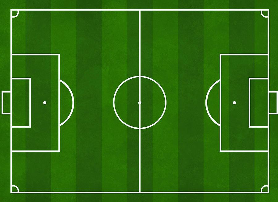 Football Soccer Pitch Digital Art By Modern Art Prints