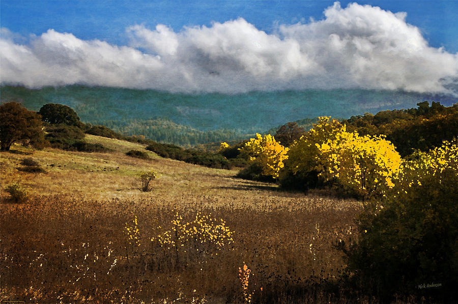 Digital Paint Photograph - Foothill Autumn In Southern Oregon by Mick Anderson