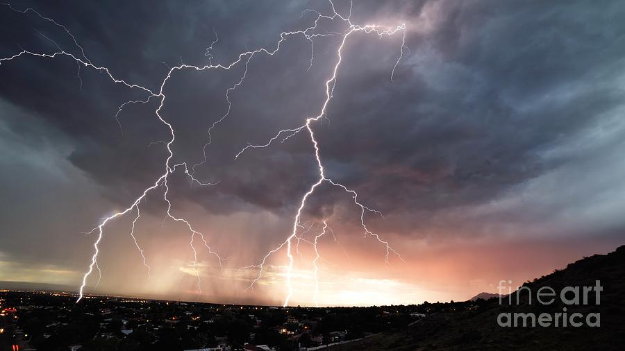 Lightning Photograph - Foothills Strike by Brian Spencer