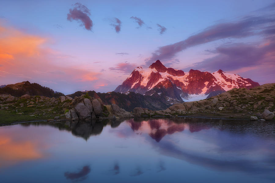 Mount Shuksan Photograph - Footprints In The Sky by Ryan Manuel