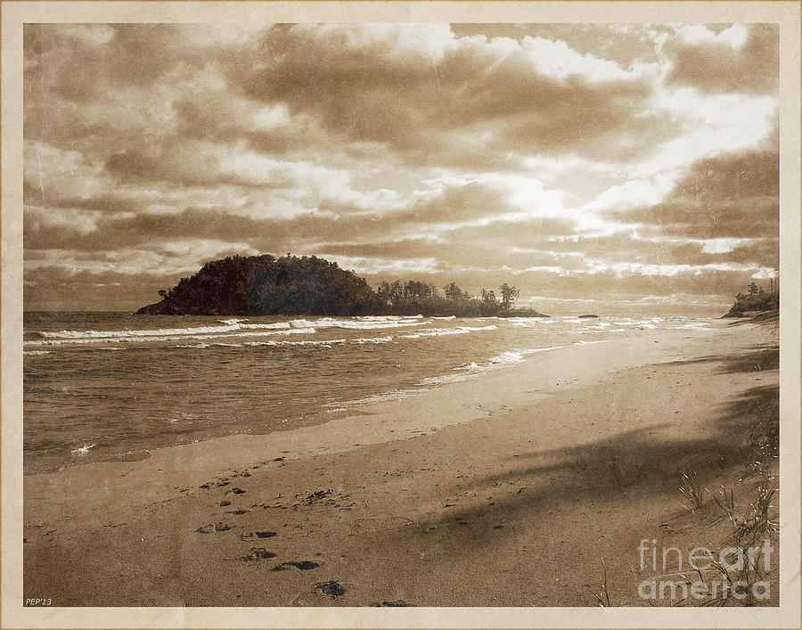 Vintage Photography Photograph - Footsteps In The Sand by Phil Perkins