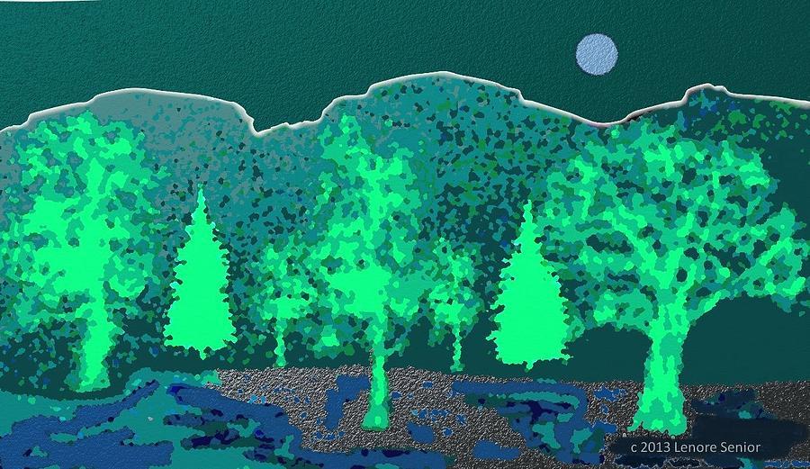 Semi Abstract Digital Art - Footsteps by Lenore Senior