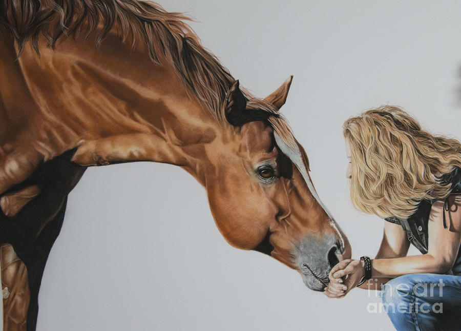 Horse Pastel - For Amy by Joni Beinborn