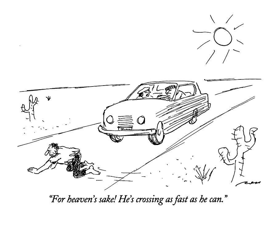 For Heavens Sake Drawing by Al Ross