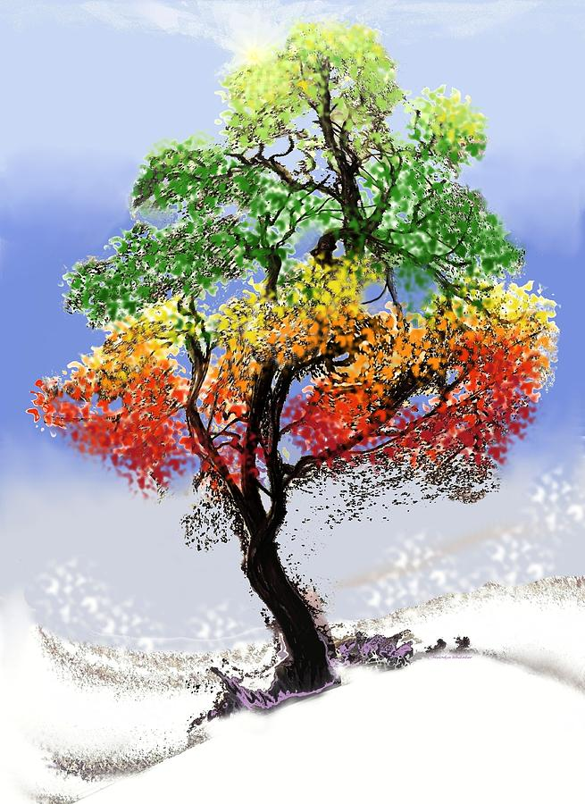 Trees Digital Art - For Loves Rewards by Melodye Whitaker