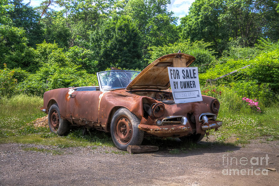 Car Photograph - For Sale By Owner by Rick Kuperberg Sr