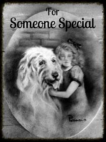 Dog Painting - For Someone Special - Vintage Collection by Beverly Pegasus