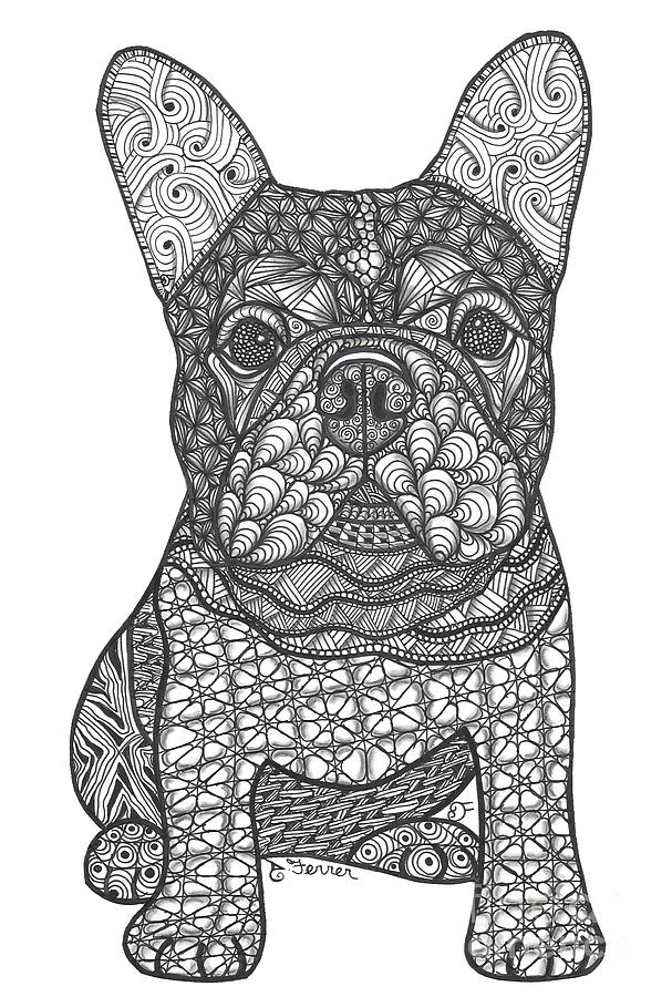 French Bulldog Drawing - For the Love - French Bulldog by Dianne Ferrer