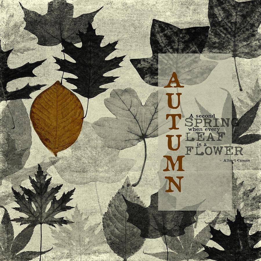 Digital Art Digital Art - For The Love Of Autumnn by Bonnie Bruno