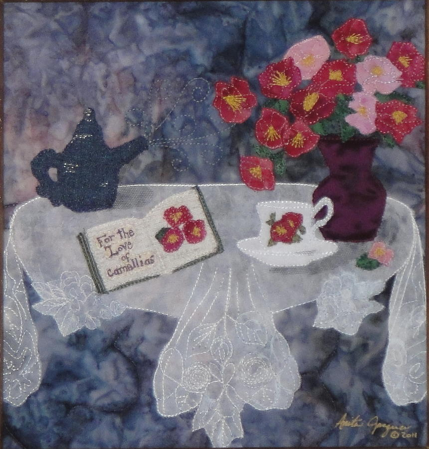 Camellias Painting - For the Love of Camellias by Anita Jacques