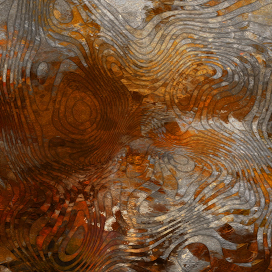 Steel Painting - For The Love Of Rust by Jack Zulli