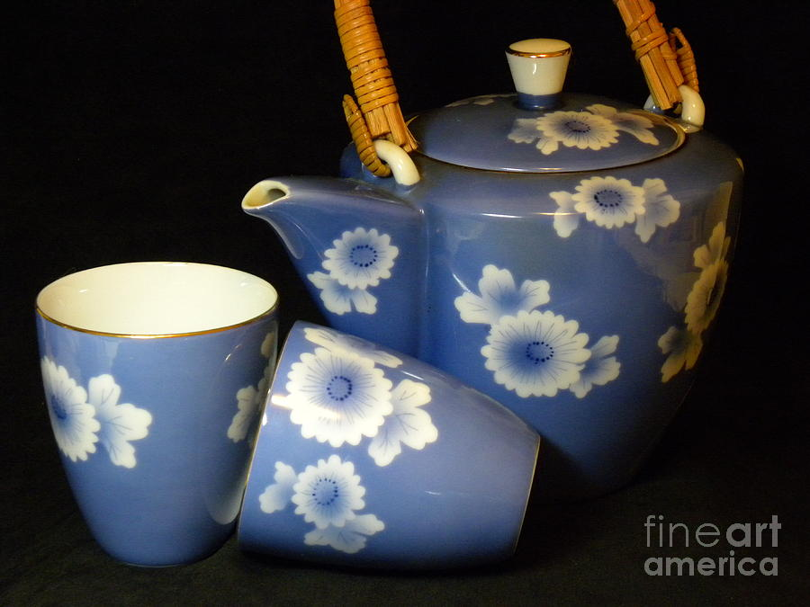 Tea Set Photograph - For Two by Laura Yamada