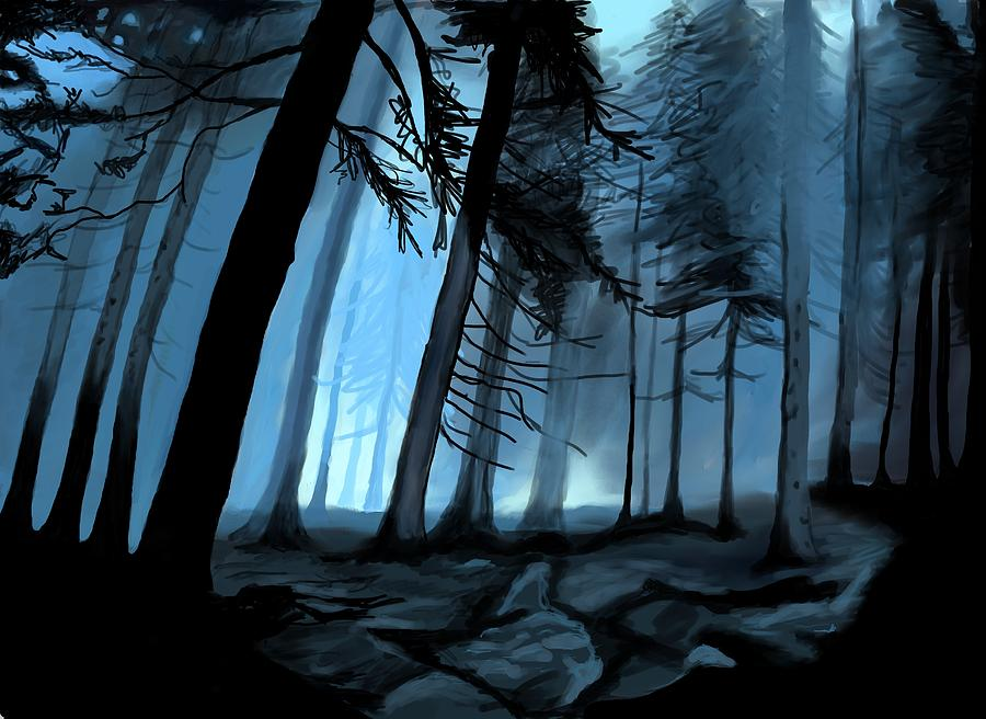 forbidden forest digital art by saskia ahlbrecht