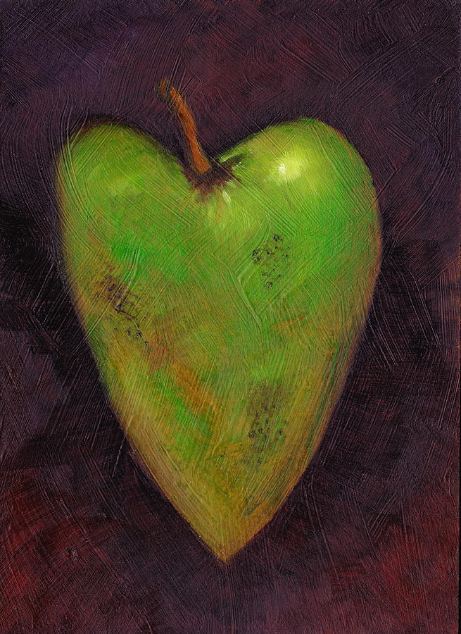 Apple Painting - Forbidden Fruit by Ida Kendall