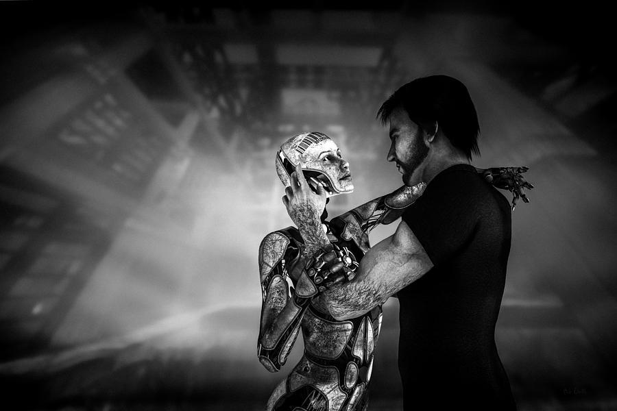 Android Digital Art - Forbidden Love Vanishing Memory Machine 2 by Bob Orsillo