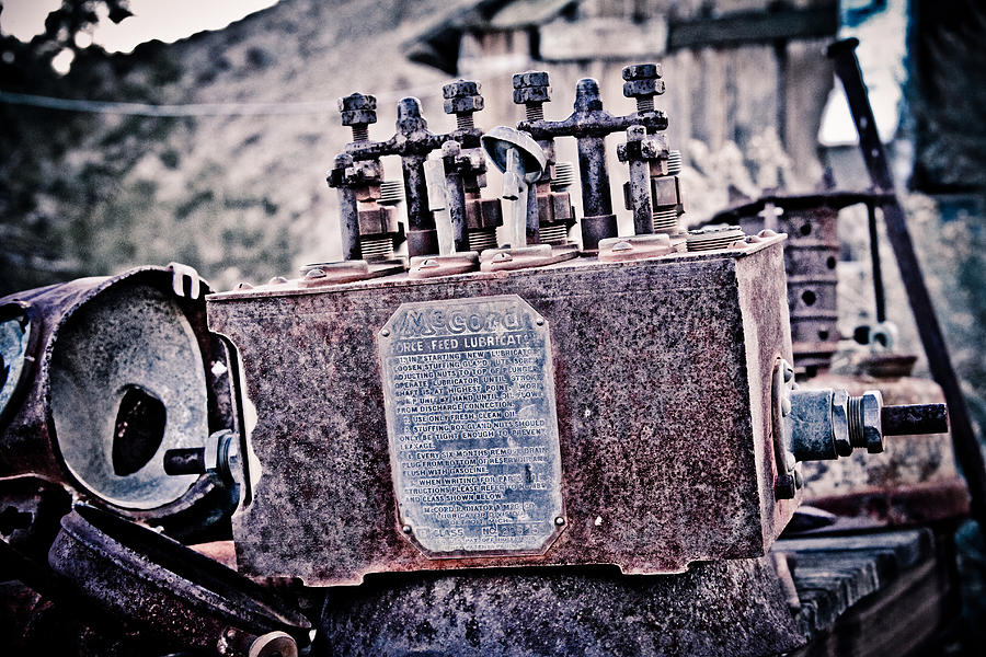 Old Photograph - Force Feed Lubrictor by Merrick Imagery