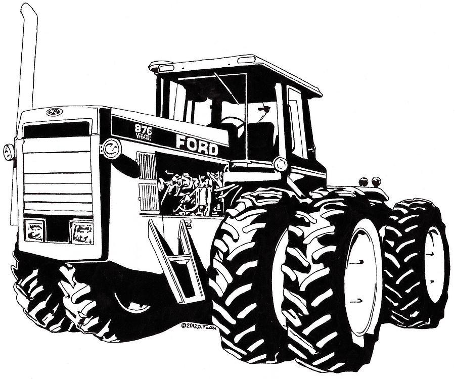 ford 876 versatile drawing by david fuller
