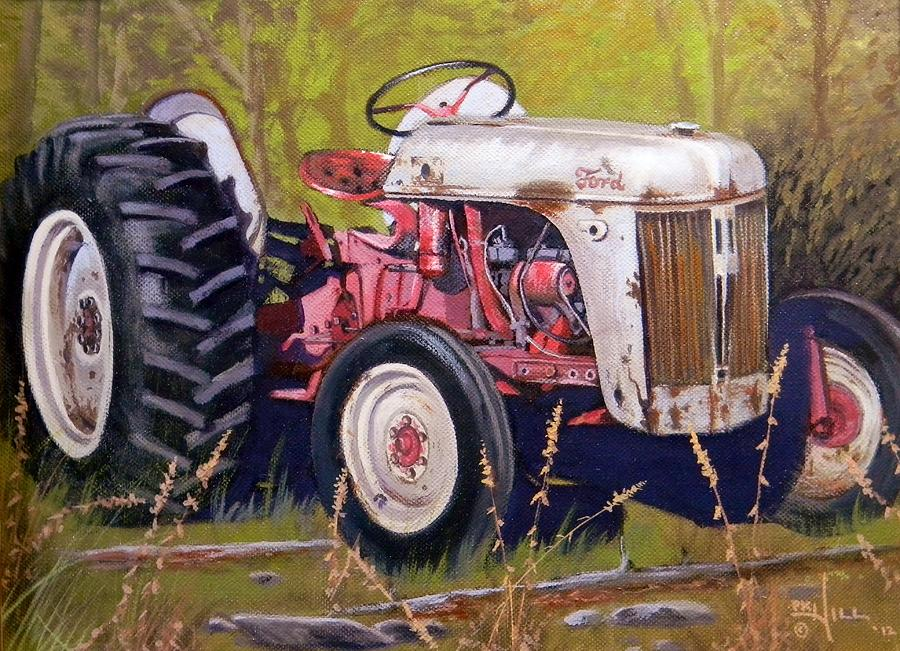 Ford 8n Painting By Paul K Hill