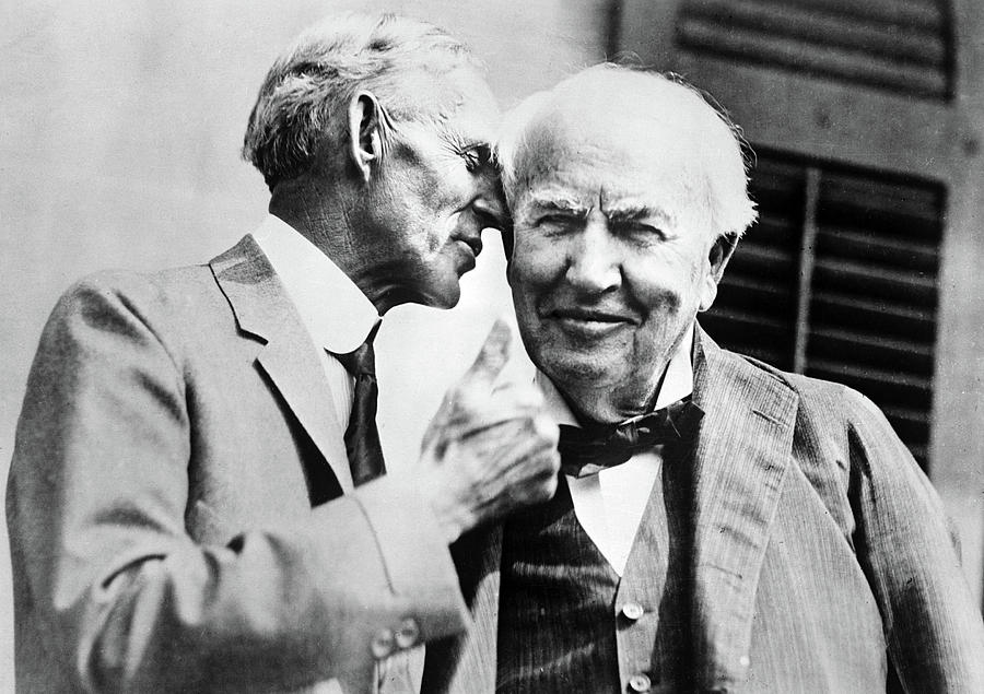 1930 Photograph - Ford And Edison, C1930 by Granger