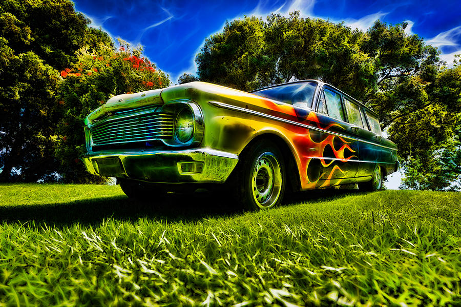 Station Wagon Photograph - Ford Falcon Station Wagon by motography aka Phil Clark