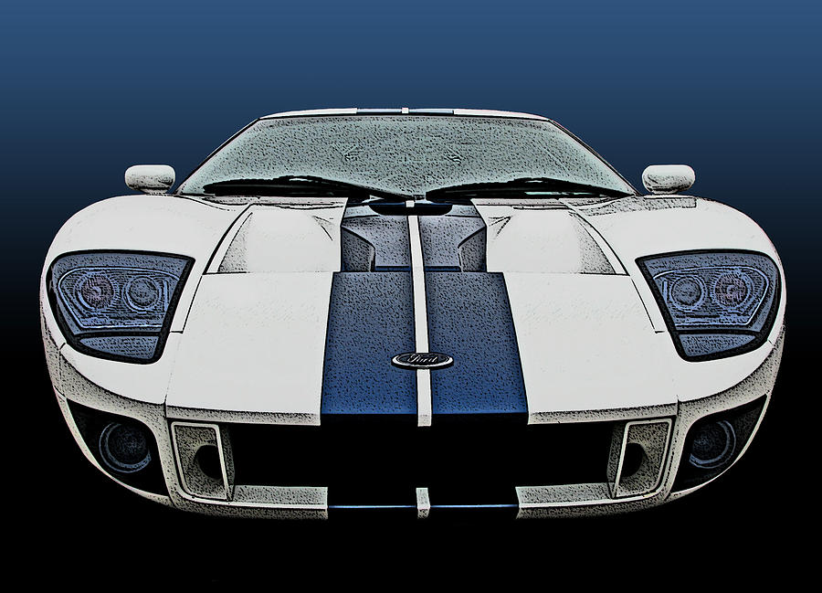 Ford GT-40 Head On by Samuel Sheats