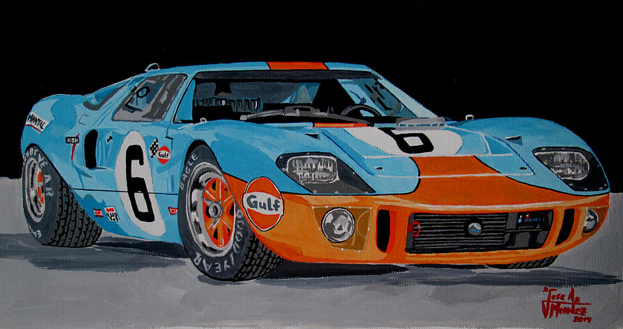 Ford Gt40 Painting - Ford Gt40 by Jose Mendez