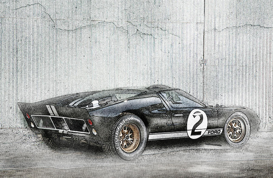 Ford Gt Digital Art Ford Gt By Peter Chilelli