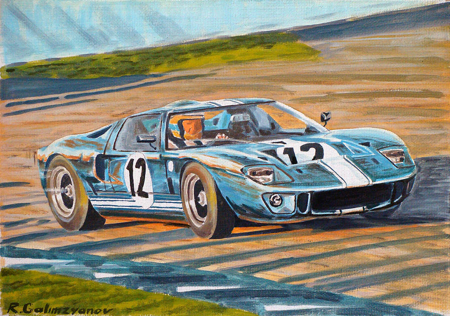 Auto Painting - Ford Gt40 by Rimzil Galimzyanov