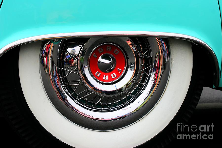 Ford Hubcap Art Photograph