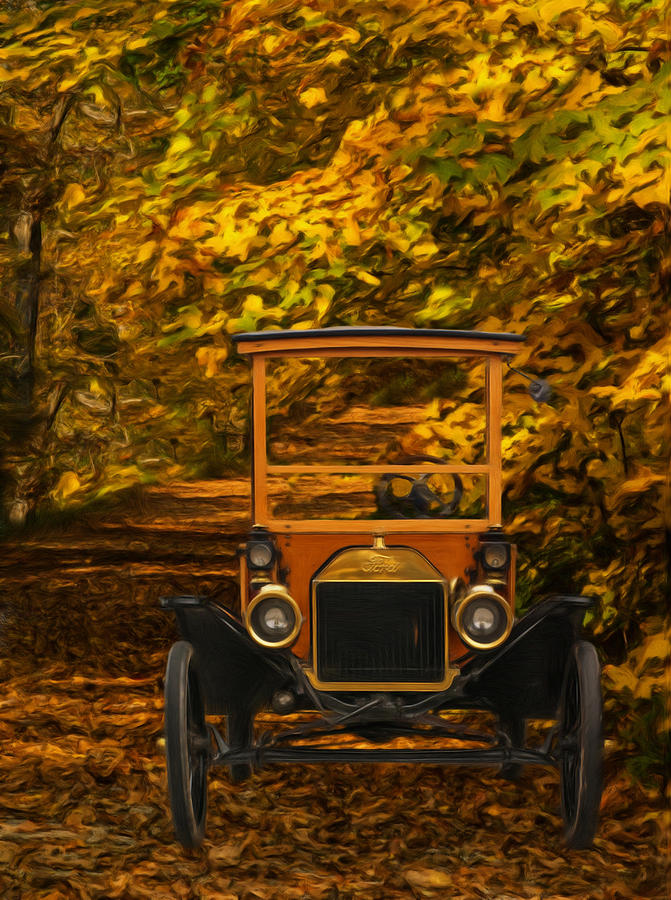 Ford Model T Painting - Ford by Jack Zulli