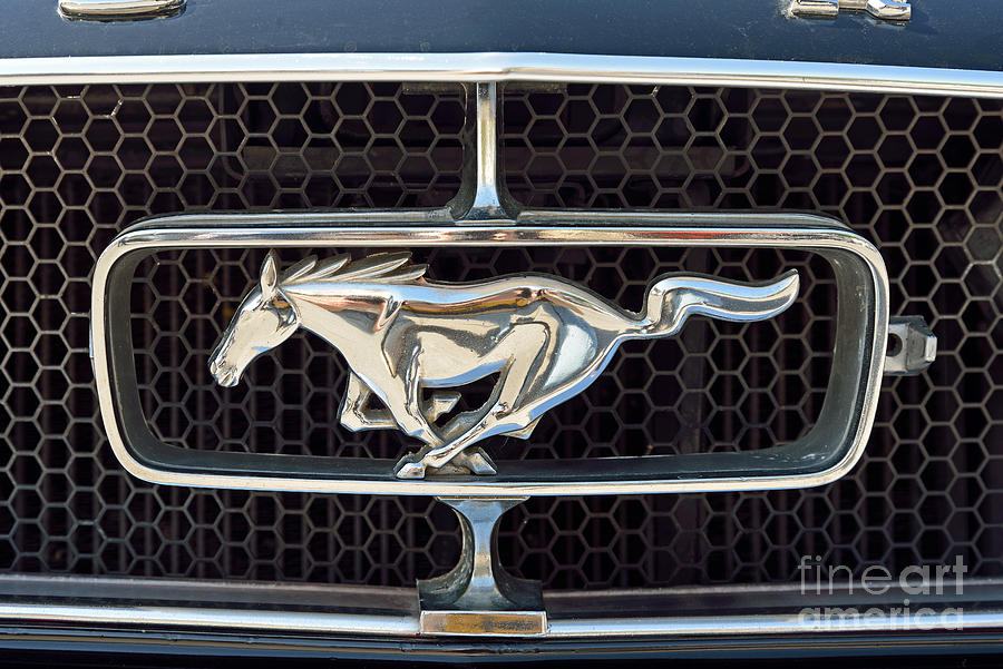 Classic Photograph - Ford Mustang Badge by George Atsametakis