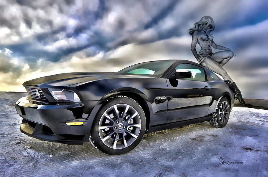 Ford Photograph - Ford Mustang - Featured In Vehicle Eenthusiast Group by EricaMaxine  Price