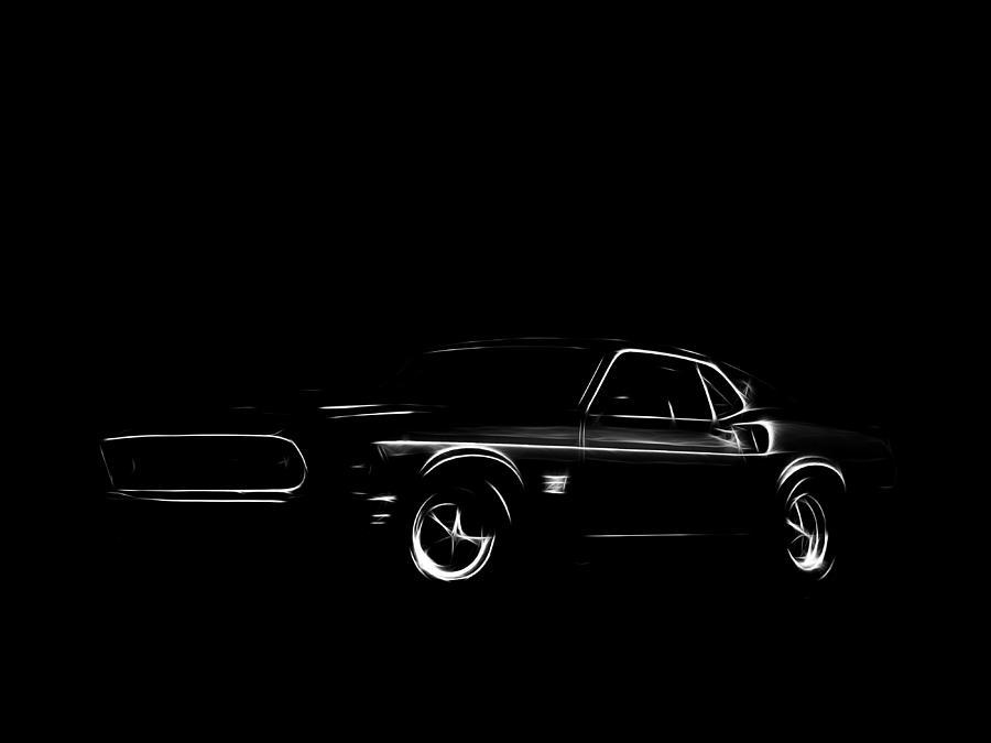 Ford Mustang  Digital Art by Steve K