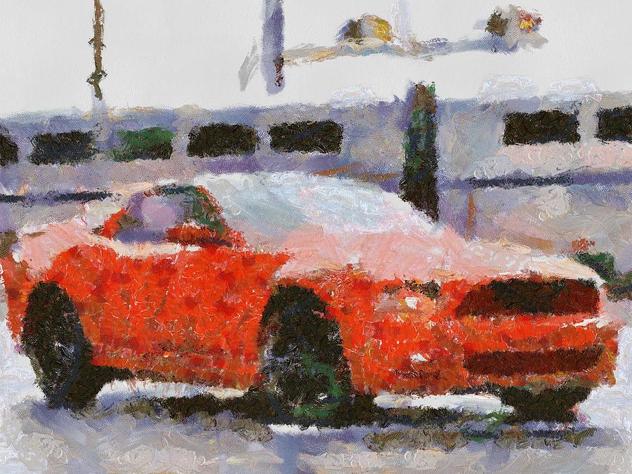 Ford Mustang V6 2013 Painting by Teara Na