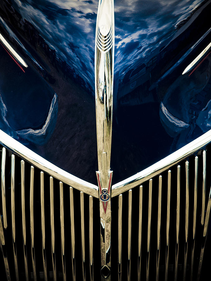 Ford Hood Photograph - Ford V8 Grill by Phil motography Clark